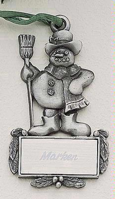 Snowman Marken Design Cast Ornament