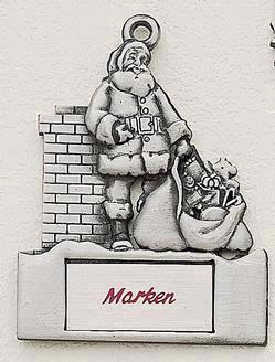 Rooftop Santa Marken Design Cast Ornament
