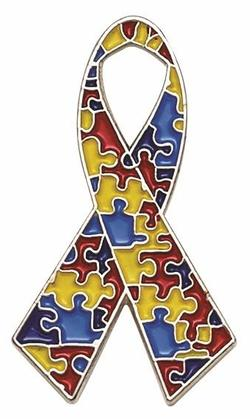 Autism Awareness Ribbon Lapel Pins