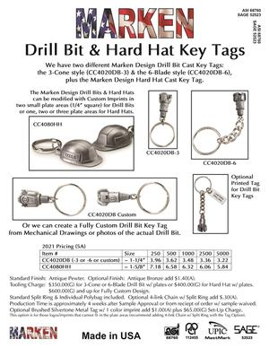 Drill Bit & Hard Hat Key Tags