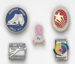 Economical Die Struck Iron Lapel Pin with Soft Enamel Colorfill