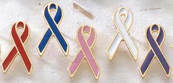 Gold Trimmed Awareness Lapel Pins