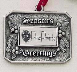 Season's Greetings Holly Marken Design Cast Ornament