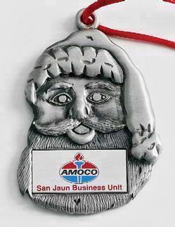 Santa Face Marken Design Cast Ornament