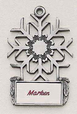 Snowflake Marken Design Cast Ornament