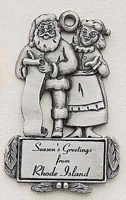 Santa & Mrs. Claus Marken Design Cast Ornament