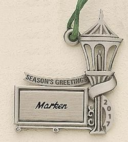 Lantern on Post (2018) Marken Design Cast Ornament